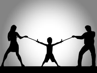 Ilustração - Pais a lutar pelo filho